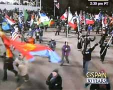 The Peace Corps Community marches in Obama's Inaugural Parade